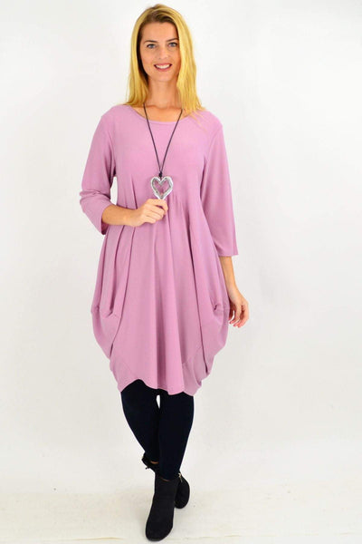 Dusty Pink Sophia Tunic Dress
