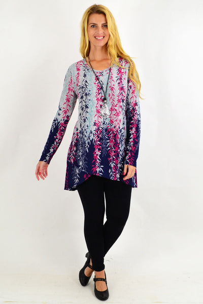 Pink Weeping Willow Tunic Top