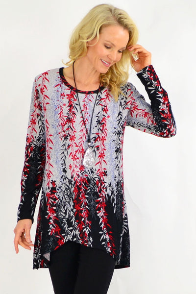 Red Weeping Willow Tunic Top | I Love Tunics | Tunic Tops | Tunic | Tunic Dresses  | womens clothing online