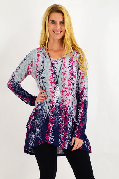 Pink Weeping Willow Tunic Top | I Love Tunics | Tunic Tops | Tunic | Tunic Dresses  | womens clothing online