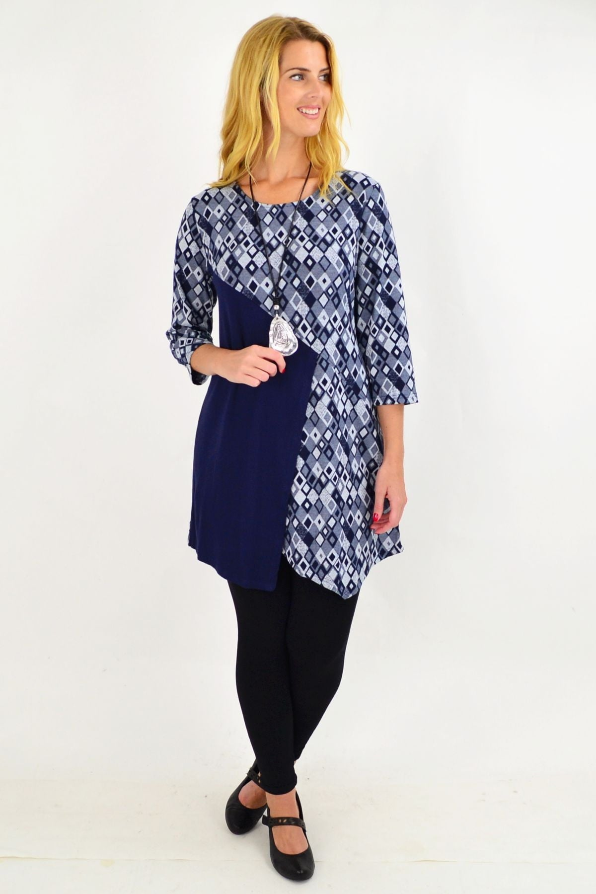 Blue Diamond Tunic Top by Whispers | I Love Tunics | Tunic Tops | Tunic | Tunic Dresses  | womens clothing online