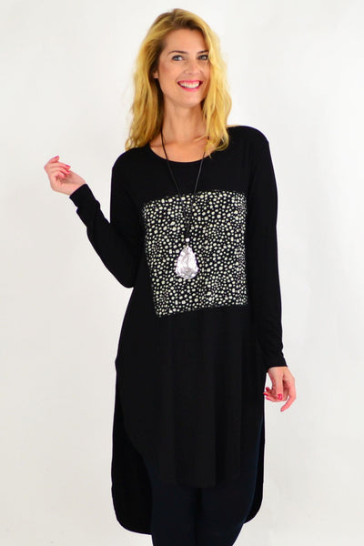 Pebbles Patch Black Tunic Dress | I Love Tunics | Tunic Tops | Tunic | Tunic Dresses  | womens clothing online