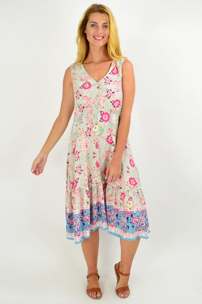 Mint Danielle Floral Tunic Dress
