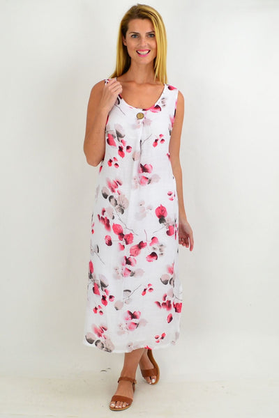Pink Japanese Leaf Tunic Dress