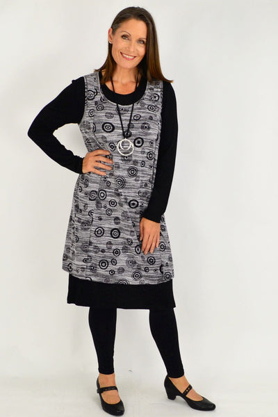 2 in 1 Layered Tunic Dress