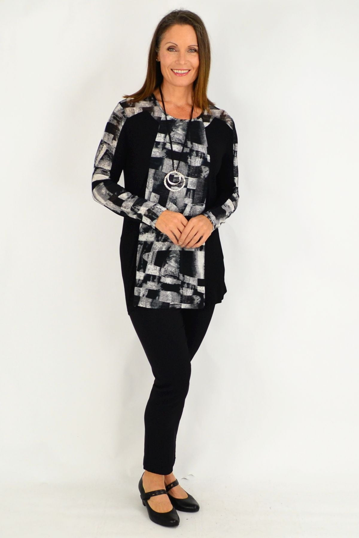 Maria Silver Black Tunic Top | I Love Tunics | Tunic Tops | Tunic | Tunic Dresses  | womens clothing online