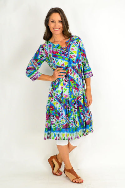 Mexican Festival Tunic Dress