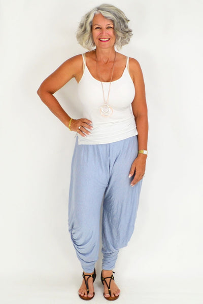 Light Blue Ava Harem Style Pants | I Love Tunics | Tunic Tops | Tunic | Tunic Dresses  | womens clothing online