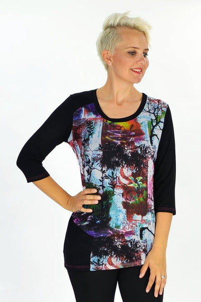 Blue Burleigh Tunic - at I Love Tunics @ www.ilovetunics.com = Number One! Tunics Destination