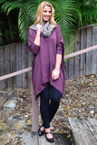 Burgundy Snuggle up Tunic Top | I Love Tunics | Tunic Tops | Tunic | Tunic Dresses  | womens clothing online