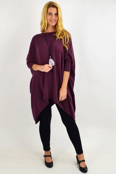 Burgundy Snuggle up Tunic Top