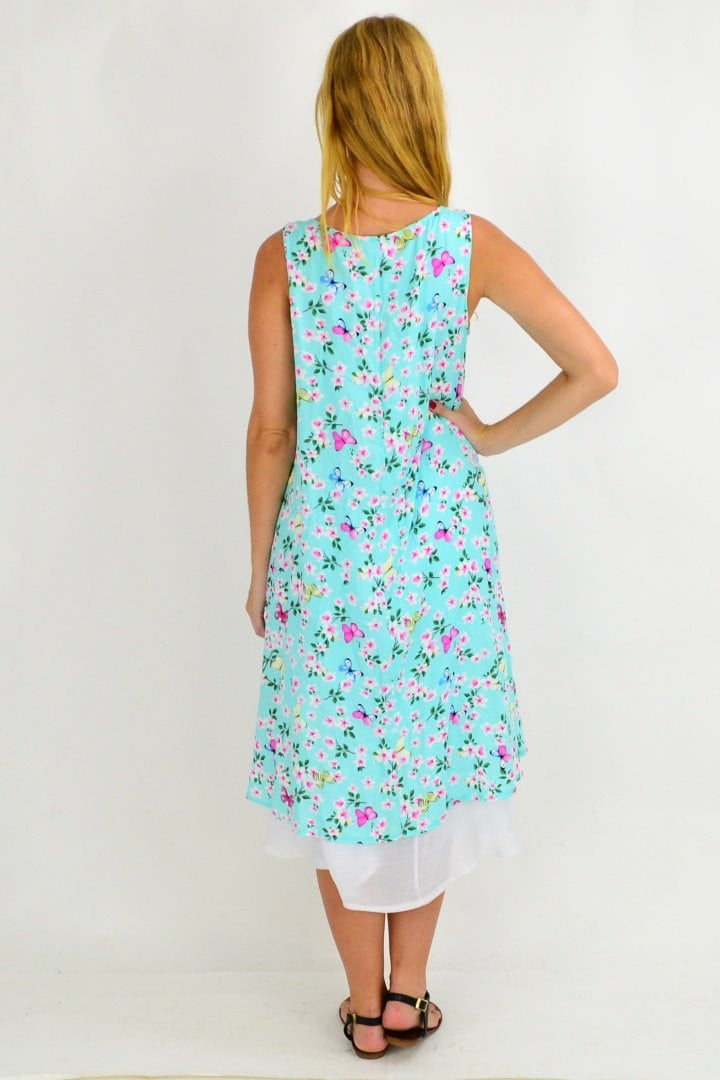 Mint Cherry Blossom Tunic Dress | I Love Tunics | Tunic Tops | Tunic | Tunic Dresses  | womens clothing online