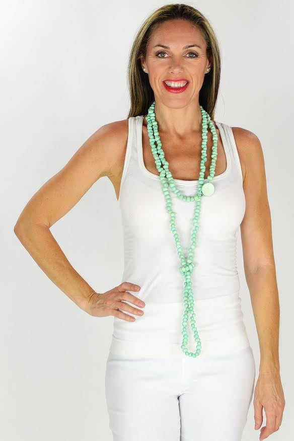 Mint Long Necklace | I Love Tunics | Tunic Tops | Tunic | Tunic Dresses  | womens clothing online