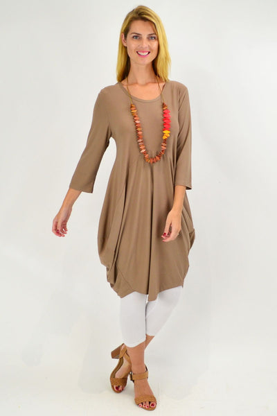 Mocha Sophia Tunic Dress