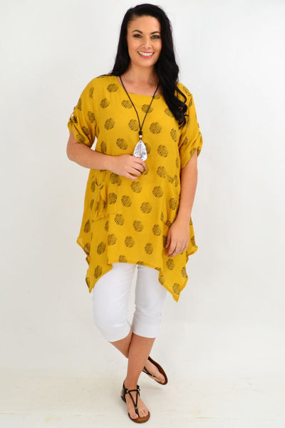 Mustard Rita Relaxed Tunic Top