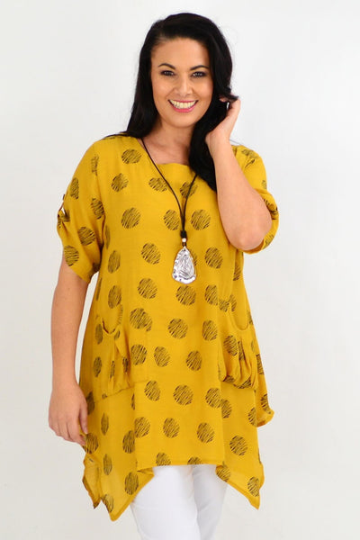 Mustard Rita Relaxed Tunic Top | I Love Tunics | Tunic Tops | Tunic | Tunic Dresses  | womens clothing online