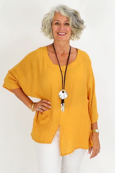Marleen Mustard Tunic Blouse | I Love Tunics | Tunic Tops | Tunic | Tunic Dresses  | womens clothing online