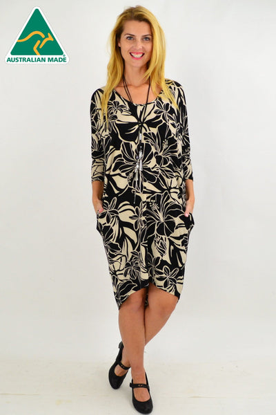 Floral Delight Hi Low Tunic Dress
