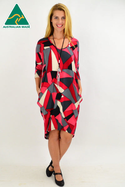 Patch Work Hi Low Tunic Dress