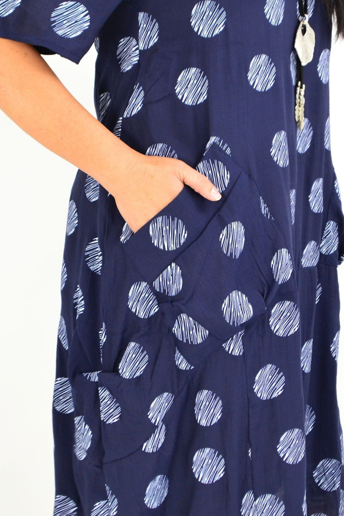 Navy White Dots Bubble Tunic Dress | I Love Tunics | Tunic Tops | Tunic | Tunic Dresses  | womens clothing online