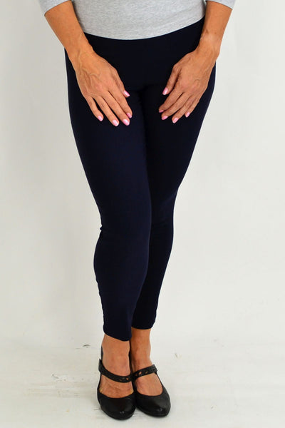 Navy Blue Eva Stretch 7/8 Pants