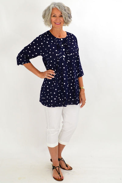 Navy Bessie Tunic Shirt