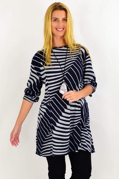 Navy Lucille Line Winter Tunic Top | I Love Tunics | Tunic Tops | Tunic | Tunic Dresses  | womens clothing online