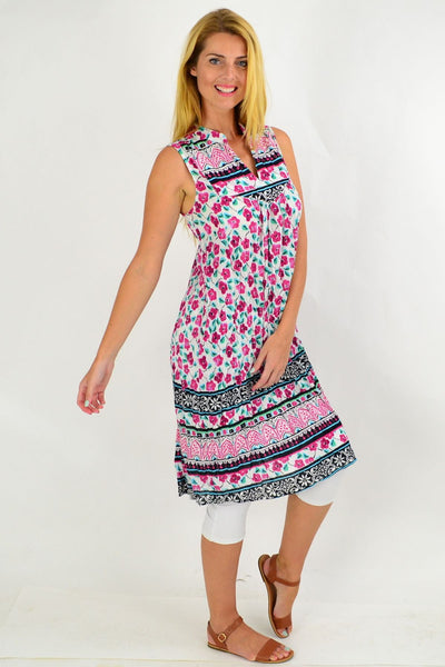 Pink Cherry Blossom Tunic Dress | I Love Tunics | Tunic Tops | Tunic | Tunic Dresses  | womens clothing online
