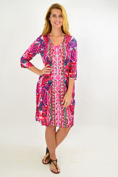 Pink Pattern One Summer Tunic Dress | I Love Tunics | Tunic Tops | Tunic | Tunic Dresses  | womens clothing online