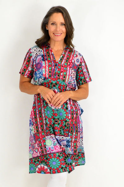 Long Moroccan One Summer Tunic Dress