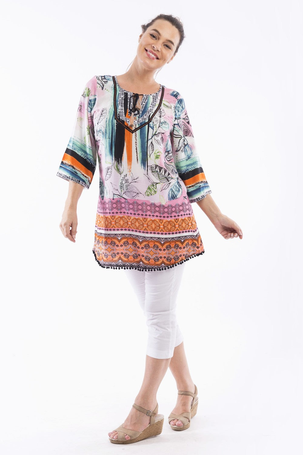 Monderna Orientique Tunic - at I Love Tunics @ www.ilovetunics.com = Number One! Tunics Destination