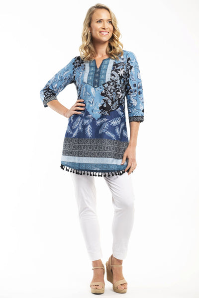 Orientique Crete Cotton Tunic Top