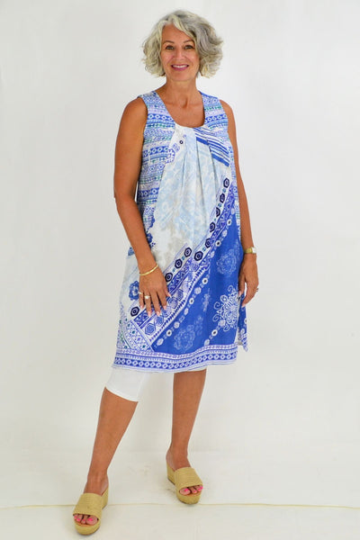 Orientique Corfu Cap Sleeve Tunic Dress