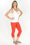 Orange Cotton 3/4 Leggings - at I Love Tunics @ www.ilovetunics.com = Number One! Tunics Destination