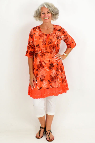 Orange Tahiti Tunic Dress