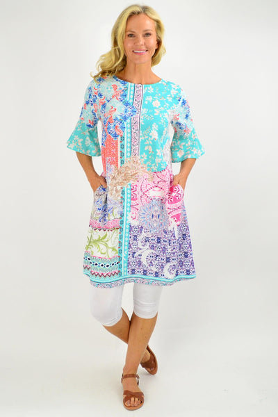 Maderia Shift Tunic Dress - I Love Tunics