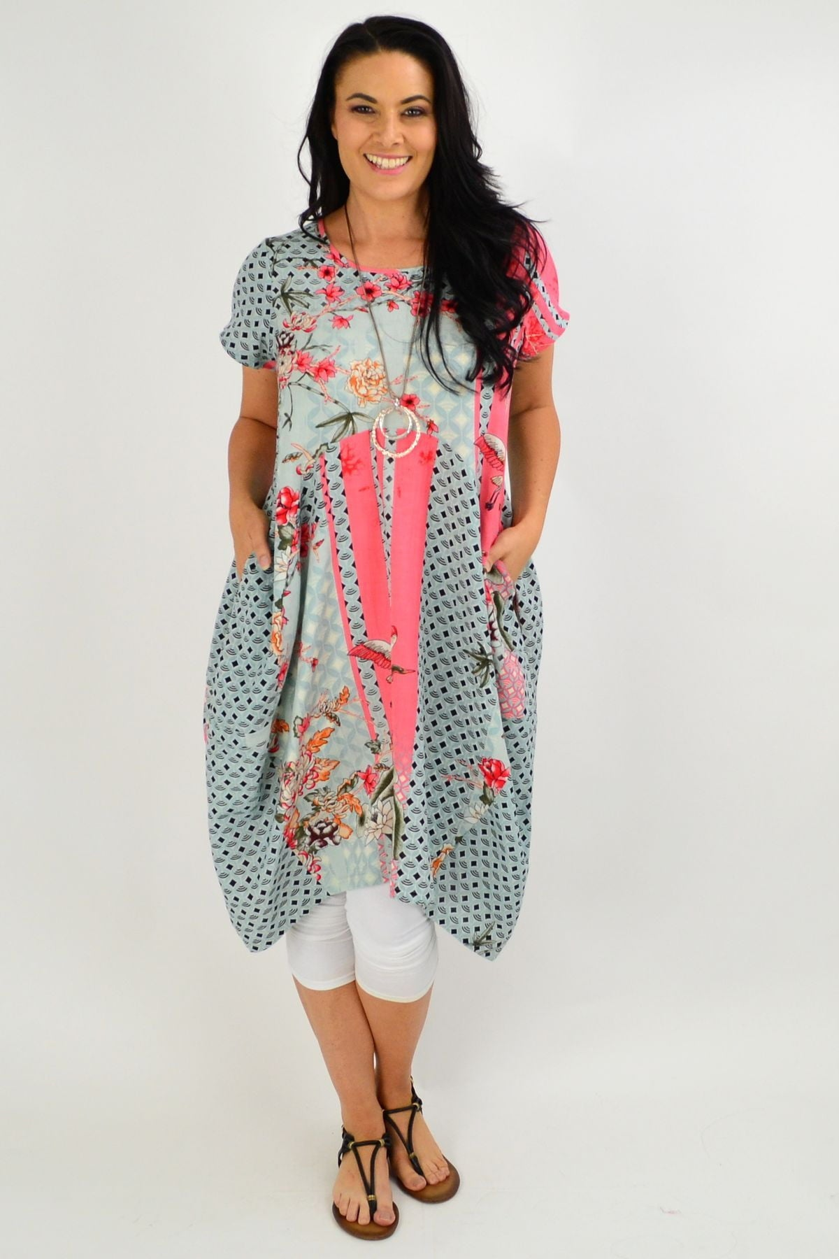 Cherry Blossom Cocoon Tunic Dress | I Love Tunics | Tunic Tops | Tunic | Tunic Dresses  | womens clothing online