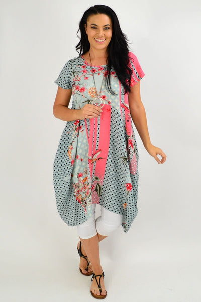 Cherry Blossom Cocoon Tunic Dress