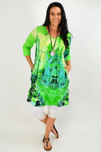 St Green Motifs of the world Tunic Dress | I Love Tunics | Tunic Tops | Tunic | Tunic Dresses  | womens clothing online