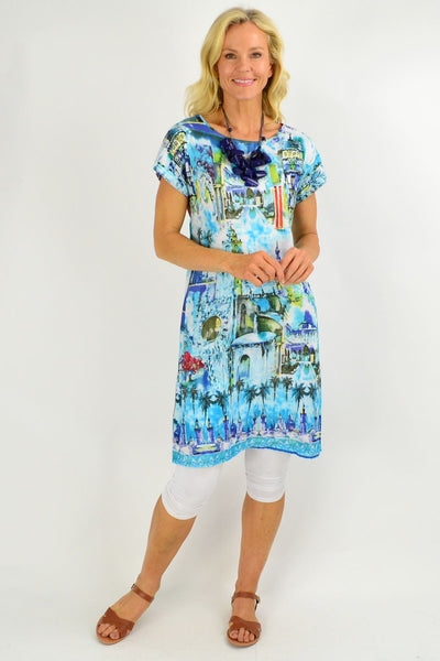 Seville Reversible Tunic Shift Dress | I Love Tunics | Tunic Tops | Tunic | Tunic Dresses  | womens clothing online