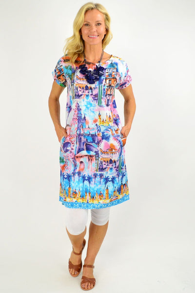 Seville Reversible Tunic Shift Dress