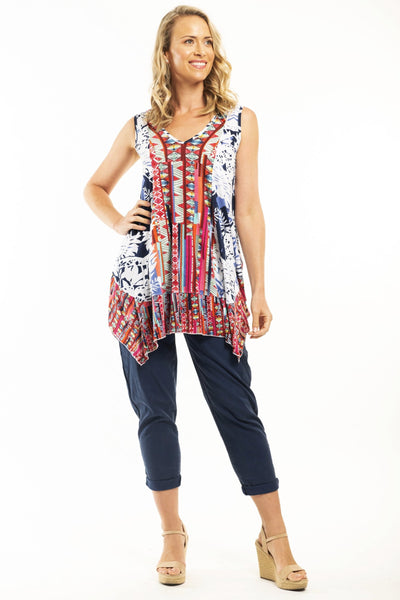 Orientique Skyros Short Tunic Top