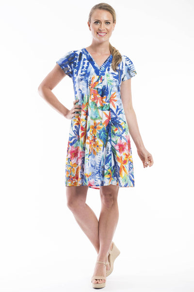 Orientique Costa Azzur Print Tunic Dress