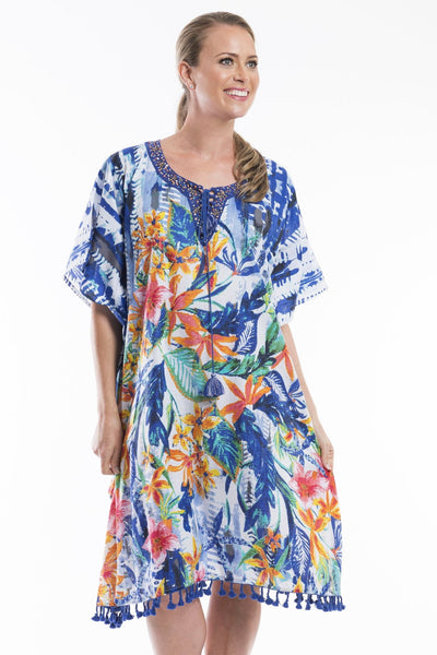 Costa Azzur Kaftan Dress | I Love Tunics | Tunic Tops | Tunic Dresses | Women's Tops | Plus Size Australia | Mature Fashion