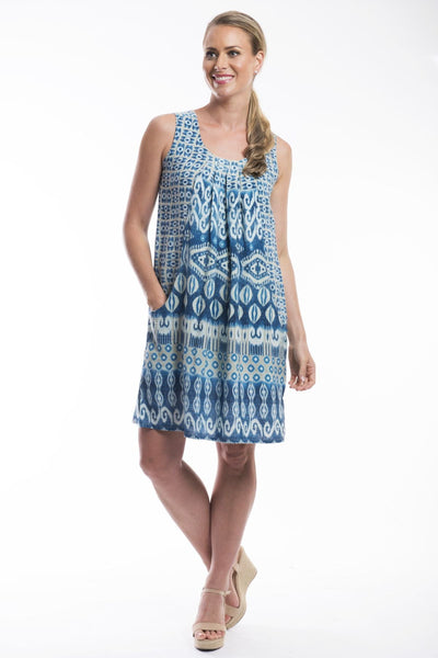 Orientique Sleeveless Pocket Tunic Dress