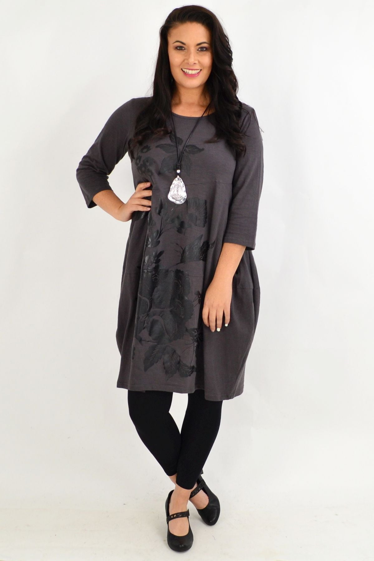 Fillipo Floral Grey Bounce Tunic Dress | I Love Tunics | Tunic Tops | Tunic | Tunic Dresses  | womens clothing online