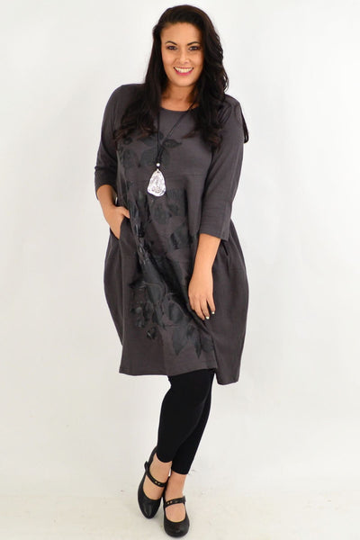 Fillipo Floral Grey Bounce Tunic Dress