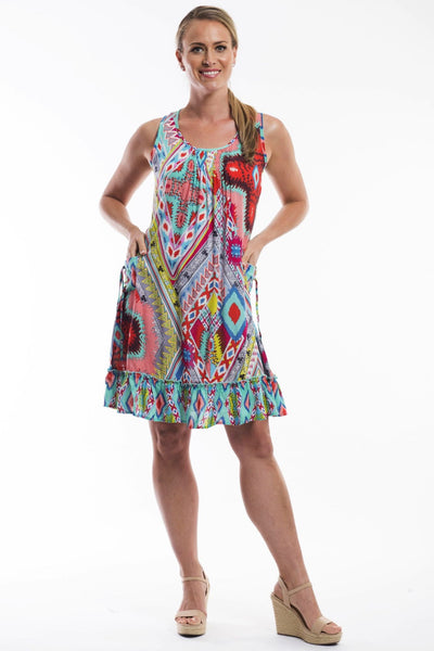 Orientique Lombardy Sleeveless Tunic Dress
