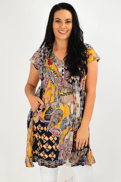 Andalucia Ezy Fit Tunic Dress | I Love Tunics | Tunic Tops | Tunic | Tunic Dresses  | womens clothing online