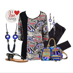 Mix Paisley Cotton Tunic - I Love Tunics @ www.ilovetunics.com